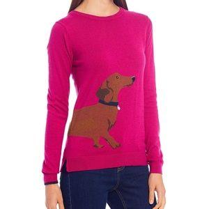 Miranda Cotton Blend Dachshund Dog Print Sweater